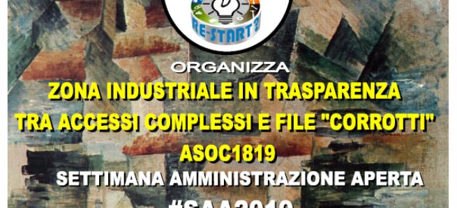 """ASOC1918 Zona industriale in """"trasparenza"""" tra accessi complessi e file """"corrotti"""""""